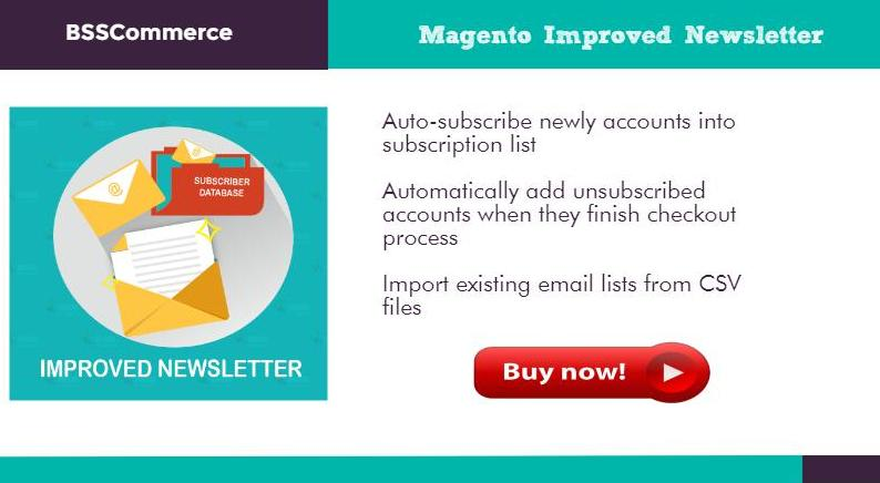 magento improved newsletter auto subscribe email