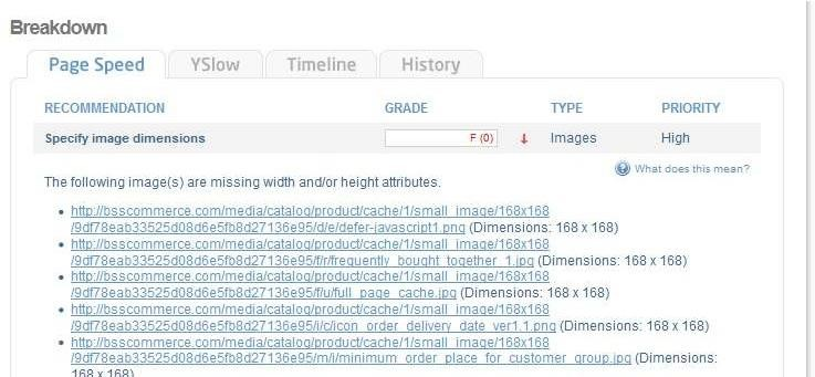 Specify image dimensions in Magento sites