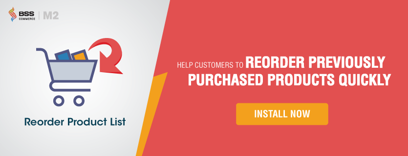 magento 2 reorder product list