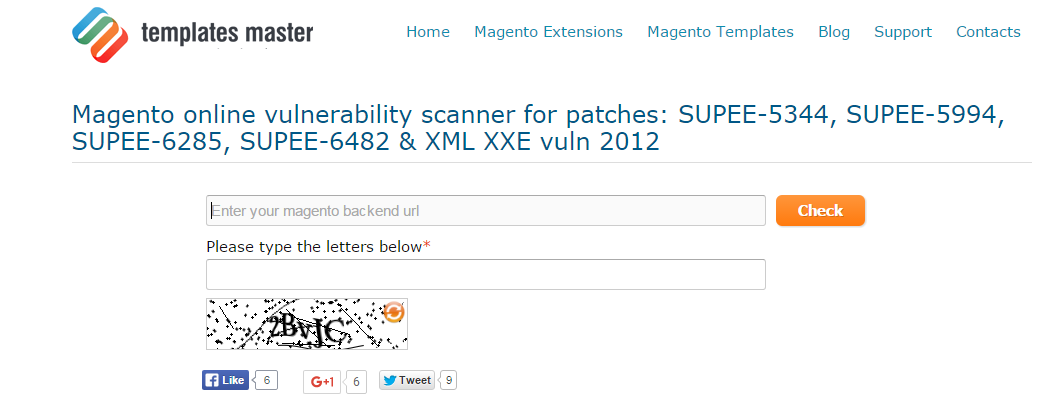check Magento website for vulnerabilities