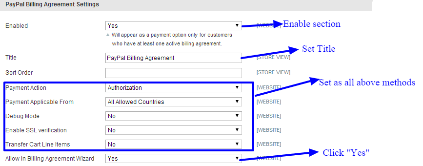 Paypal-billing-agreement-settings