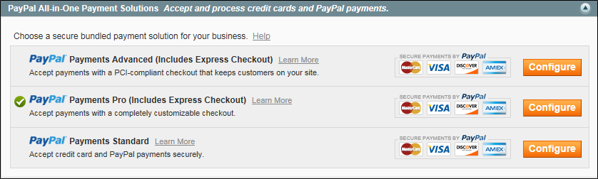paypal required settings