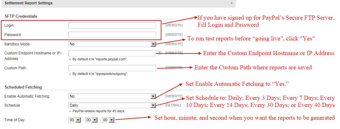 paypal-settlment-report-settings