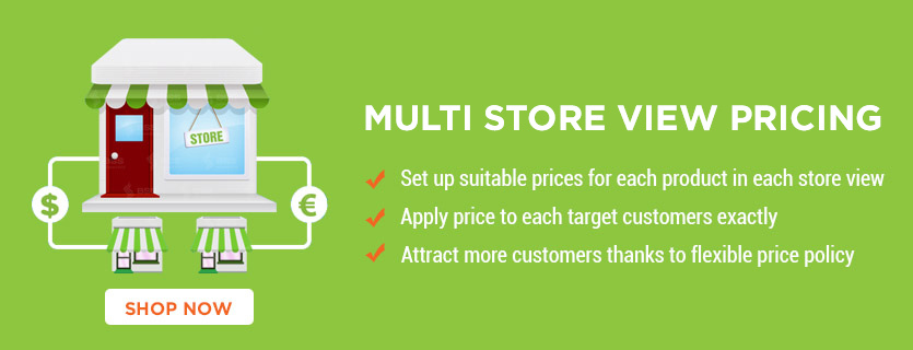 Magento multi store view pricing extension
