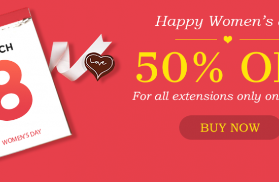 Discount for Magento extension on international women's day