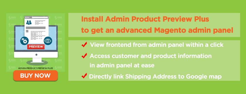 get advanced magento admin panel