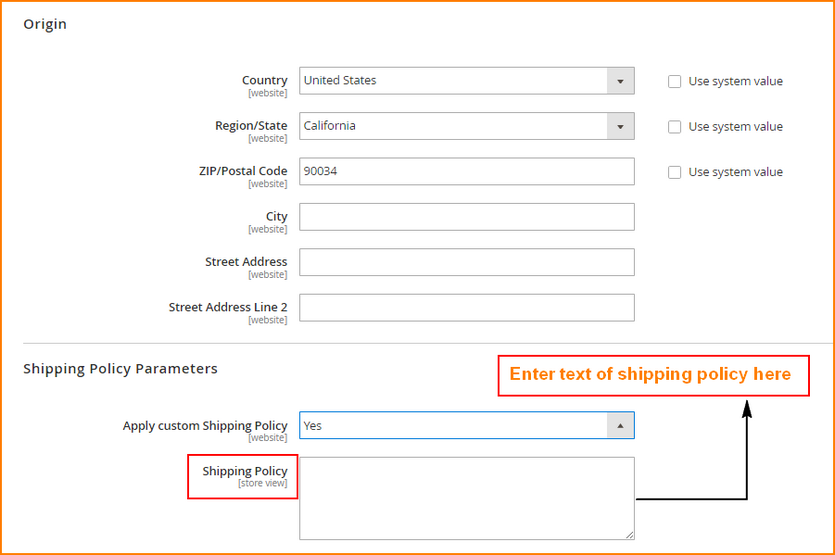 magento 2 shipping options