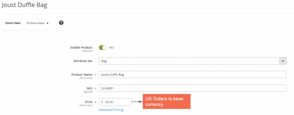 magento-base-currency