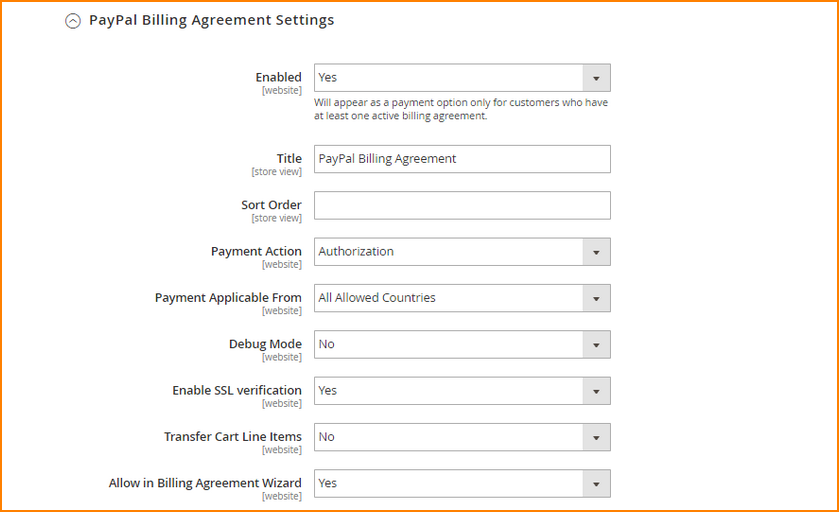 magento payment option-paypal express checkout 3