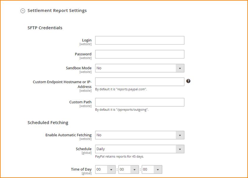 settlement-report-settings