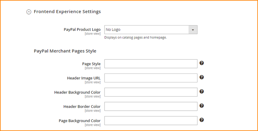 paypal-experience-settings