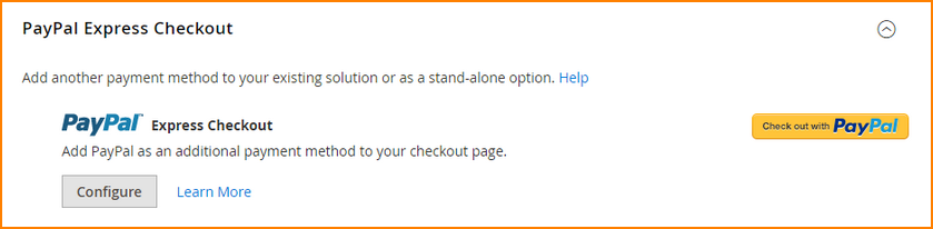 magento payment method-paypal express checkout