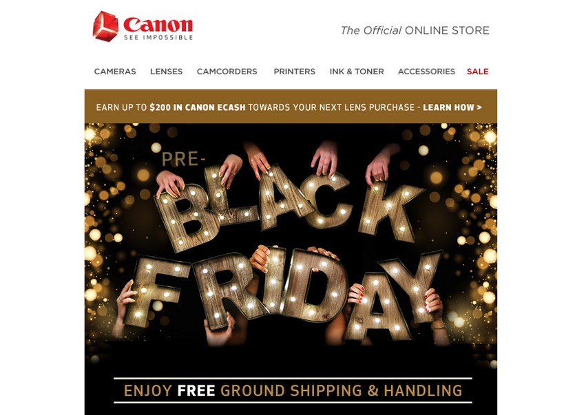 Black Friday email marketing campaign