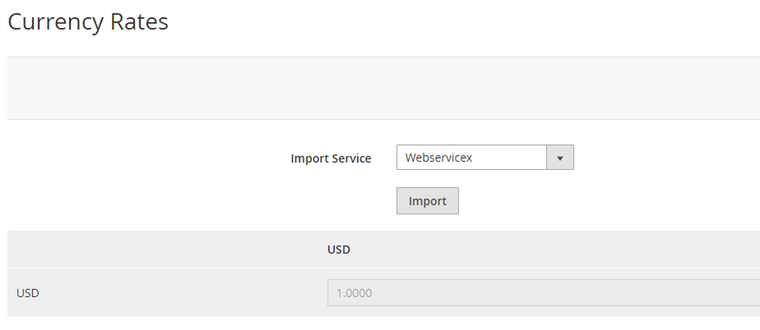 magento 2 import currency rates