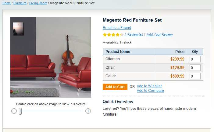 Magento Grouped Products