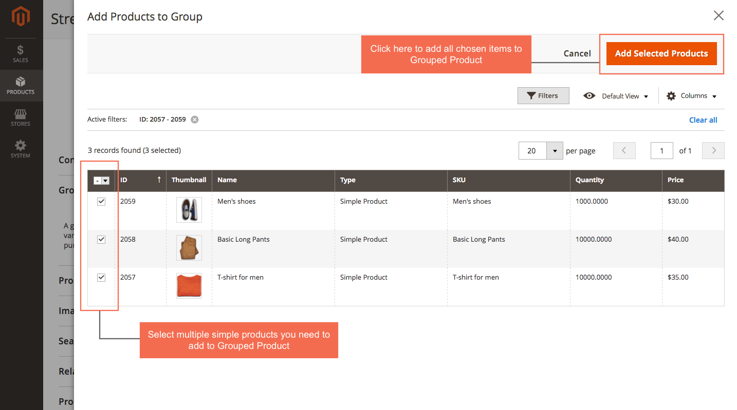 add simple product to grouped product