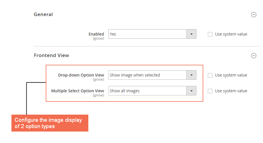 magento 2 Set up image display for frontend view of custom option