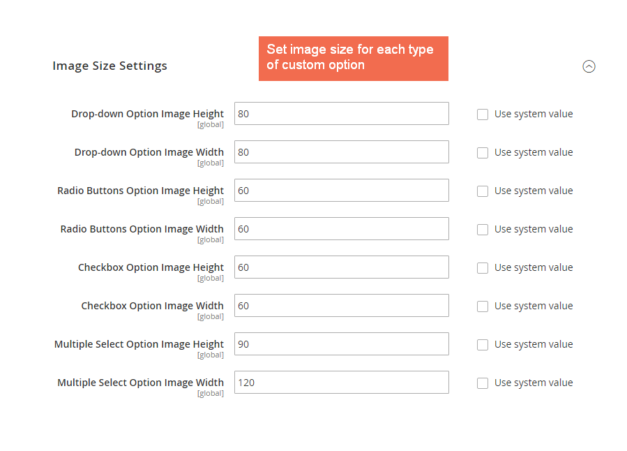 magento 2 Change image size for each custom option type