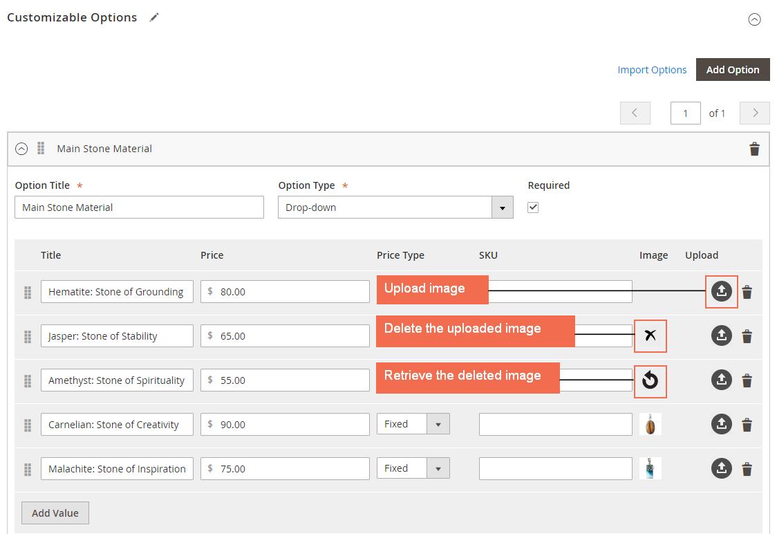 magento 2 Upload, remove and retrieve image for custom option