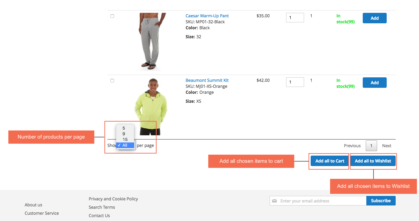 Reorder magento 2 - add multiple products to cart