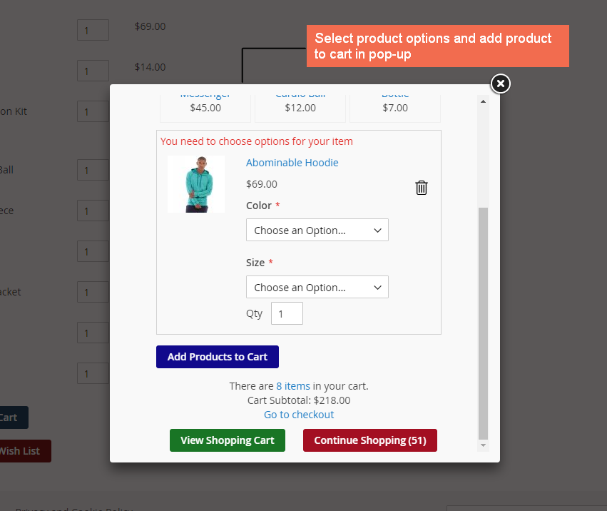 magento 2 Add product of all types to cart in AJAX pop-up, even for configurable, bundle and grouped products