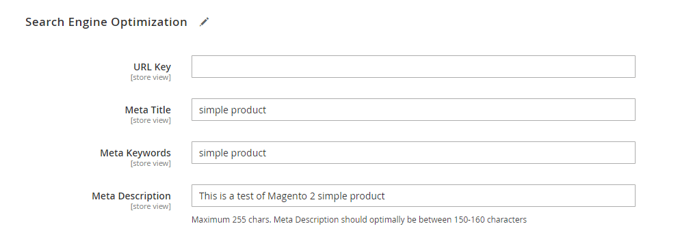 SEO for Magento 2 products