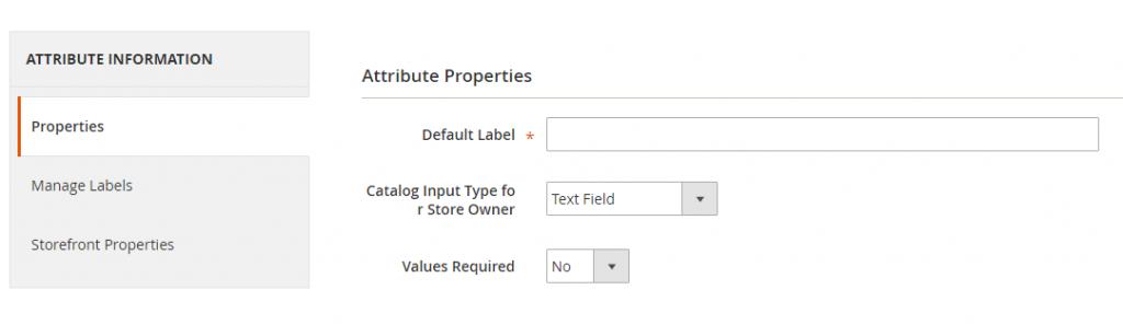basic magento 2 attribute properties