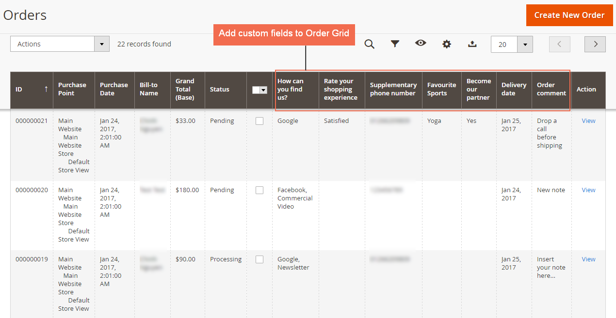 magento 2 add custom field in order grid