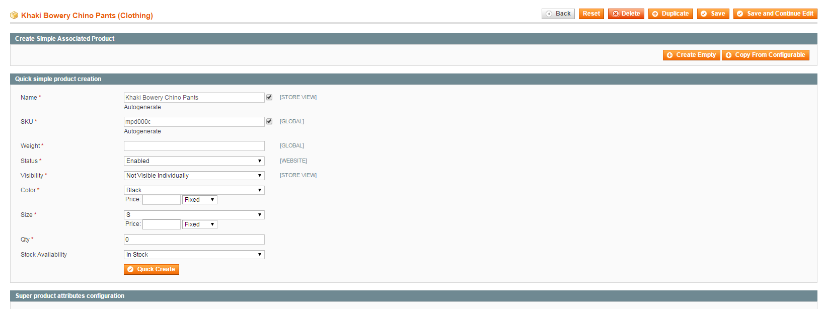 create children products in magento 1