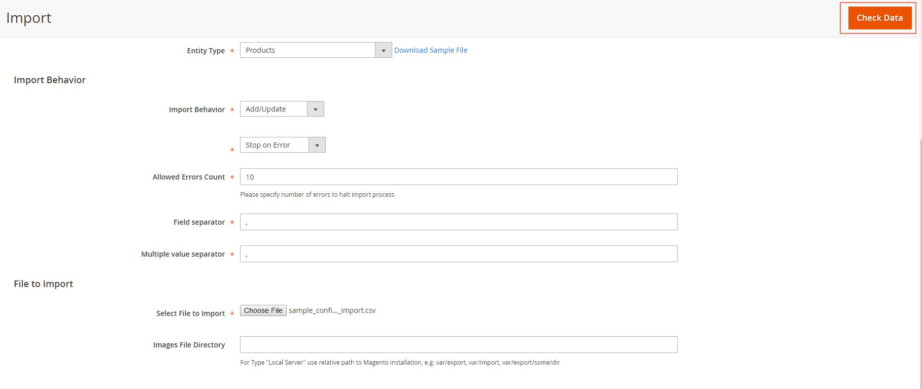 check data when import csv