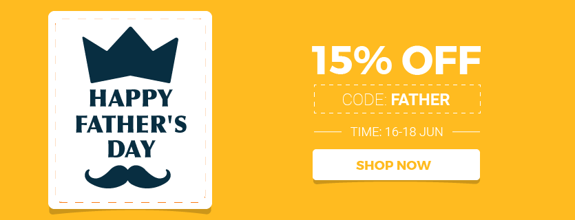 magento 15% sales off on father day 2017 June 18