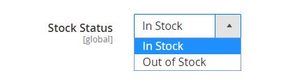 stock status configuration in Magento 2