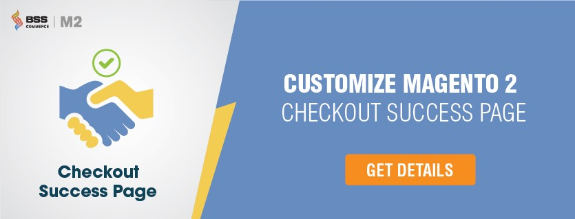 magento2 checkout success page extension
