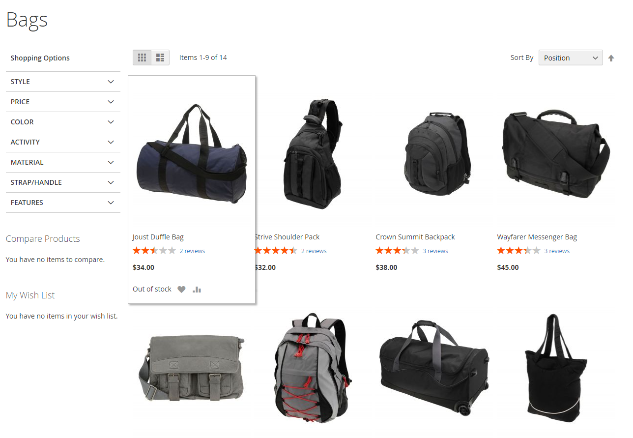magento 2 display out of stock product