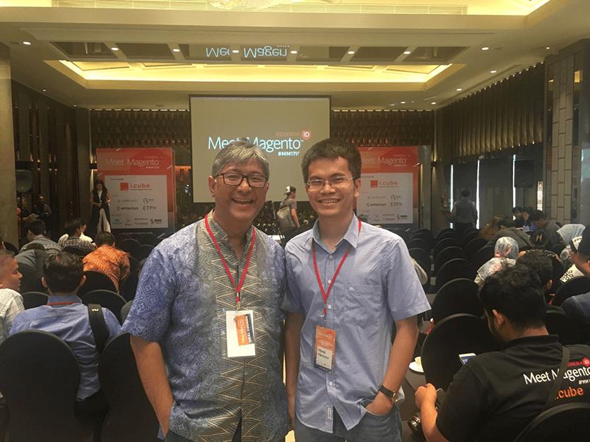 Meet Magento Indonesia 2017 Muliadi Jeo and Trung Nguyen