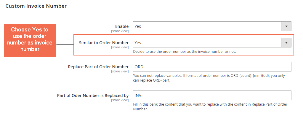 custom invoice number - magento 2 custom order number extension