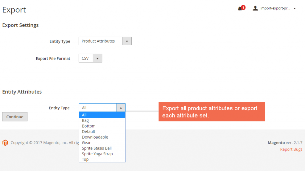 magento-2-import-export-product-attributes-extension-export-settings