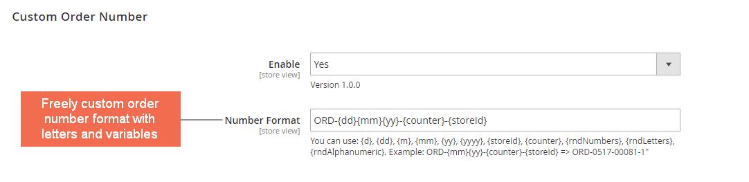 custom order number format - magento 2 custom order number extension