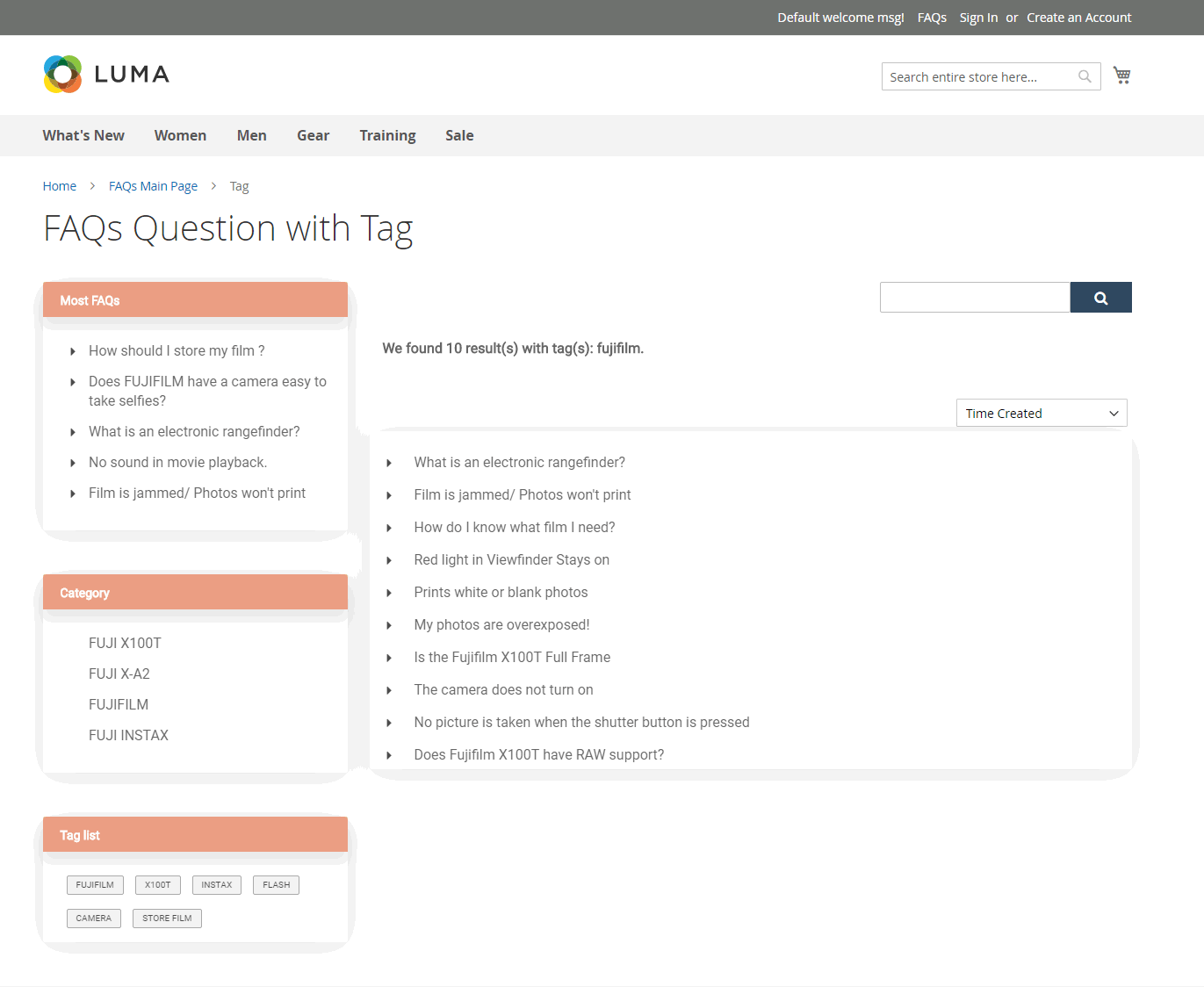 Magento 2 FAQs Extension with tag