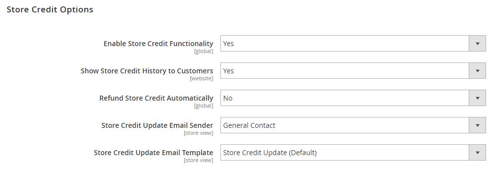 magento 2 enterprise store credit configuration