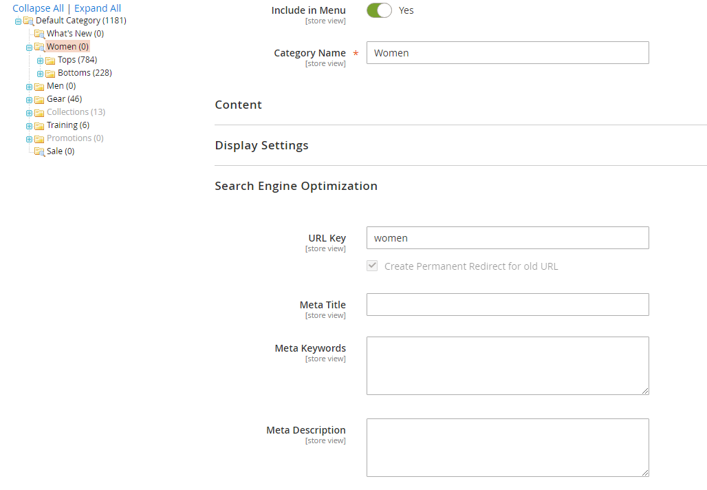 Magento 2 category auto redirects