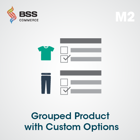 Magento 2 Grouped Product Custom Options Extension