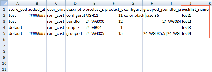 magento 2 import export wishlist - magento enterprise