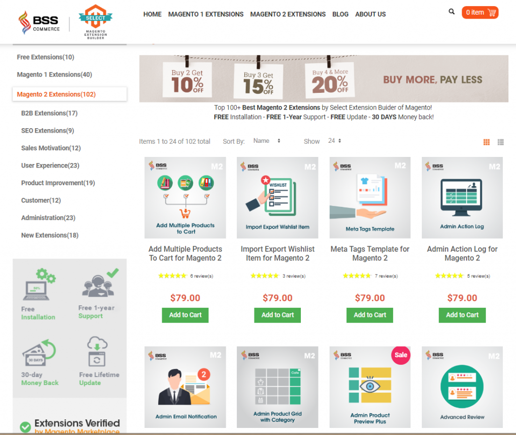 BSSCommerce - Magento 2 - extensions