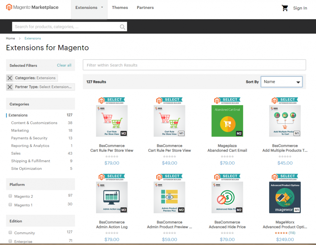 Magento-marketplace