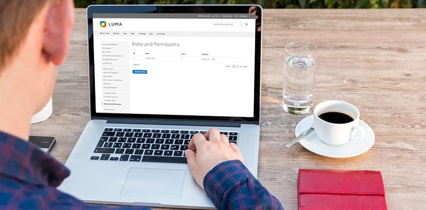 magento 2 company account role