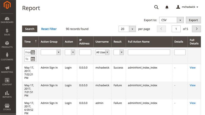 Admin-Actions-Log