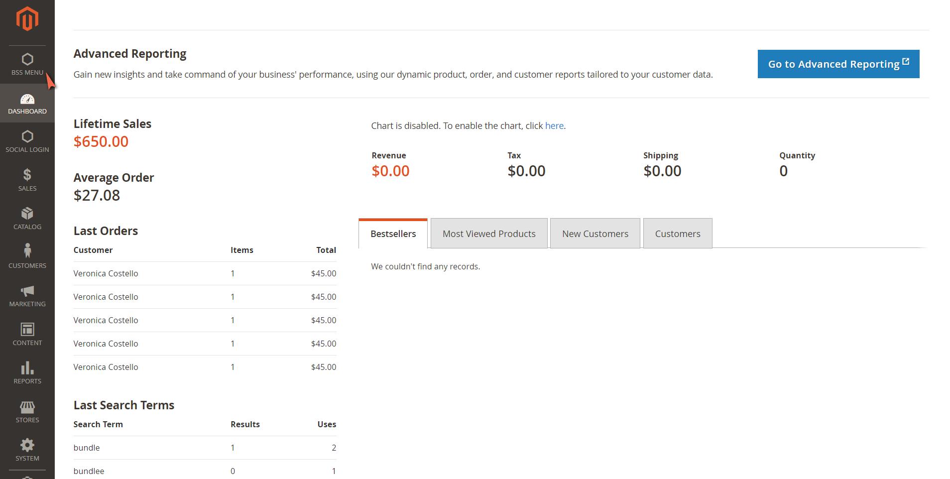 Magento 2 custom admin menu