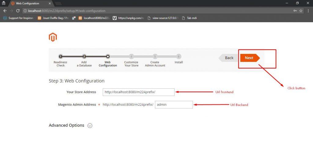 Web-configuration