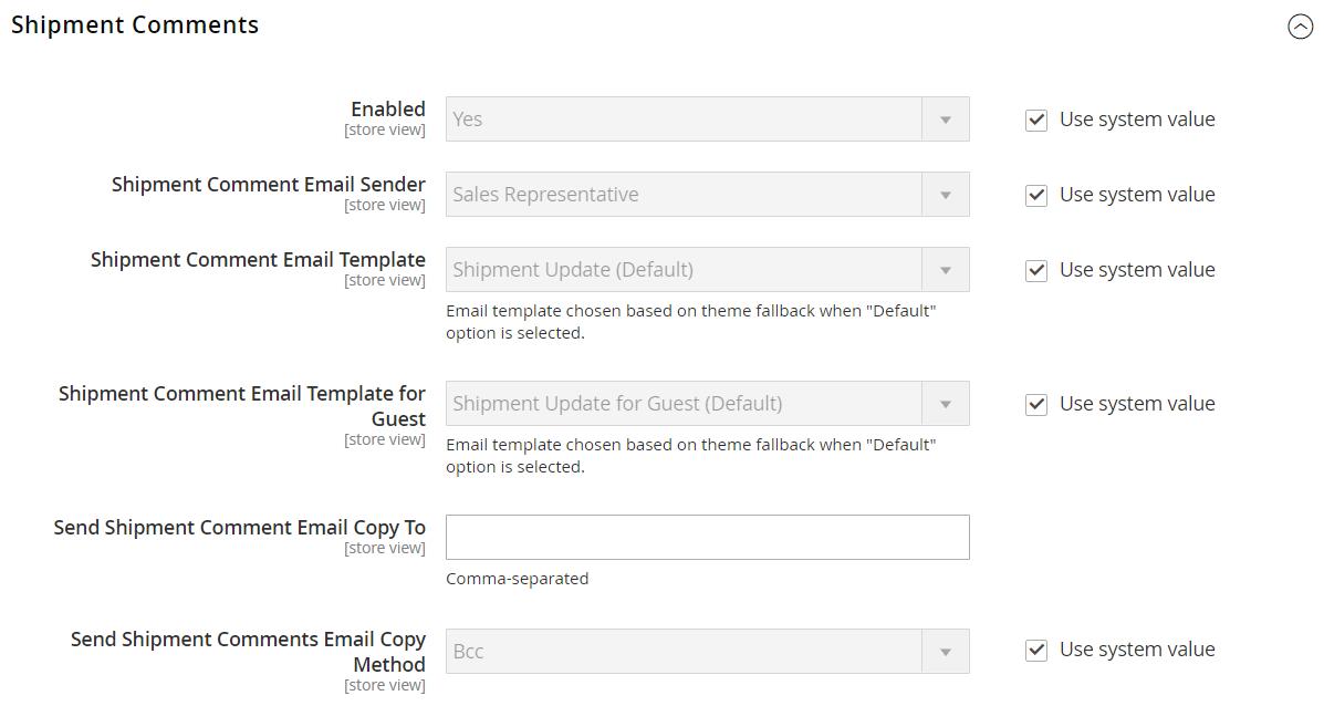 magento 2 sales emails